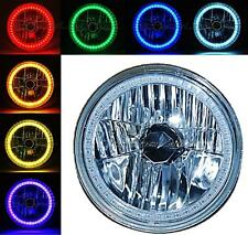 """7"""" Motorcycle RGB Multi-Color White Red Blue Green LED Halo Angel Eye Headlight"""