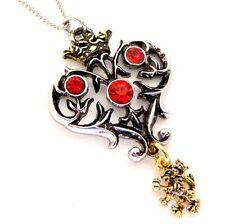 Coeur de Lion Heart Pendant Necklace Lost Treasures of Albion LT16 Red Crystal