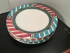 A Mallory - Alegre - Dinner Plates - FOUR - 4 - Art Pottery - Hand Painted - Ann