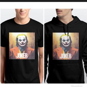 Joker 2019 Movie Film T-Shirt Black MenTEE AND HOODIE SZ KIDS TO ADULT 5XL