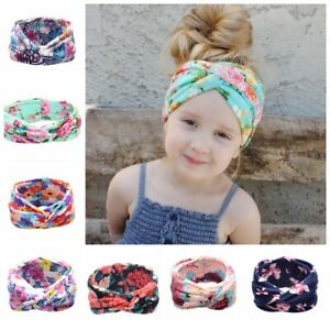 Baby-Cotton-Twisted-Turban-Knot-Knotted-Floral-Pattern-Headband-Newborn-Girl