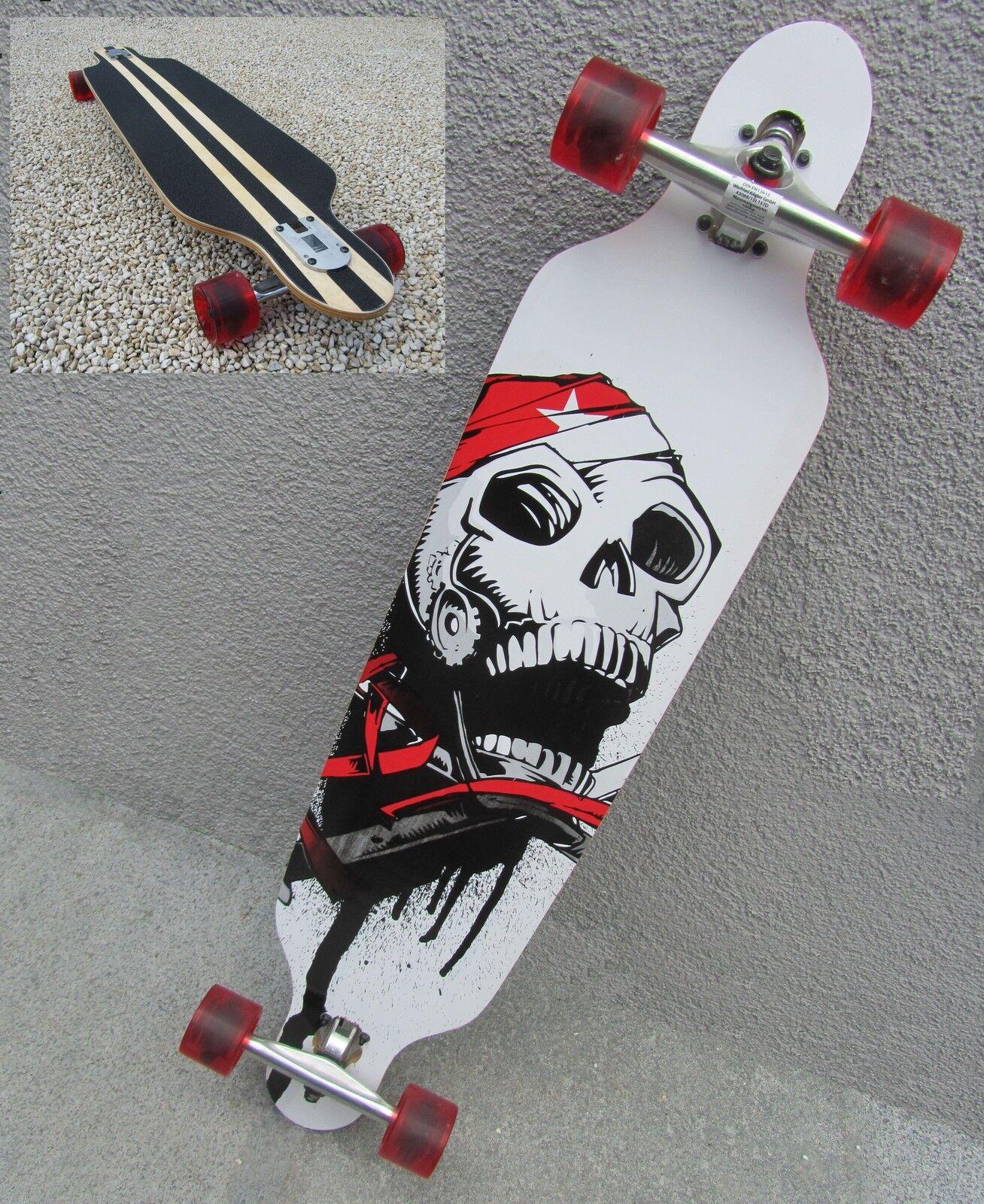 Longboard 41 Totenkopf Long Board abec11 Skateboard Surfboard abec11 Board Nr 43069 e5f5c5