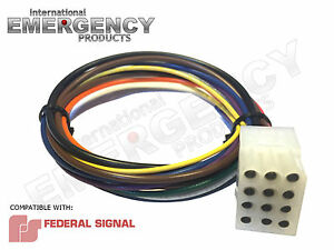 12-Pin-Plug-Harness-Cable-for-Federal-Signal-Smart-Siren-SS2000-SS200-Vision