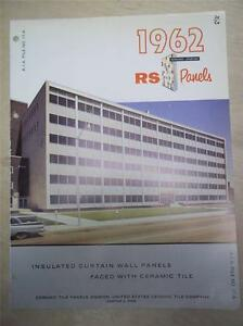 United States Ceramic Tile Co Catalog~Insulated Curtain Wall Panel~Asbestos~1962