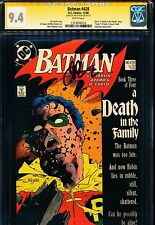 """BATMAN #428 CGC 9.4 SS Signed by JIM STARLIN! """"A Death In The Family"""" Part 3"""