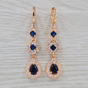 Romantic-Women-Luxury-Purple-Cubic-Zirconia-Wedding-CZ-Dangle-Earrings-Jewelry