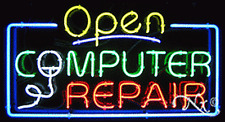 Brand New Open Computer Repair 37x20x3 Real Neon Sign Withcustom Options 15490