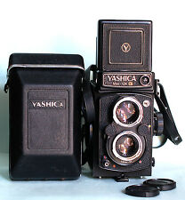 MINT Yashica Mat-124 G 6x6 TLR w/ Yashinon 80 with Leather Case Meter Working
