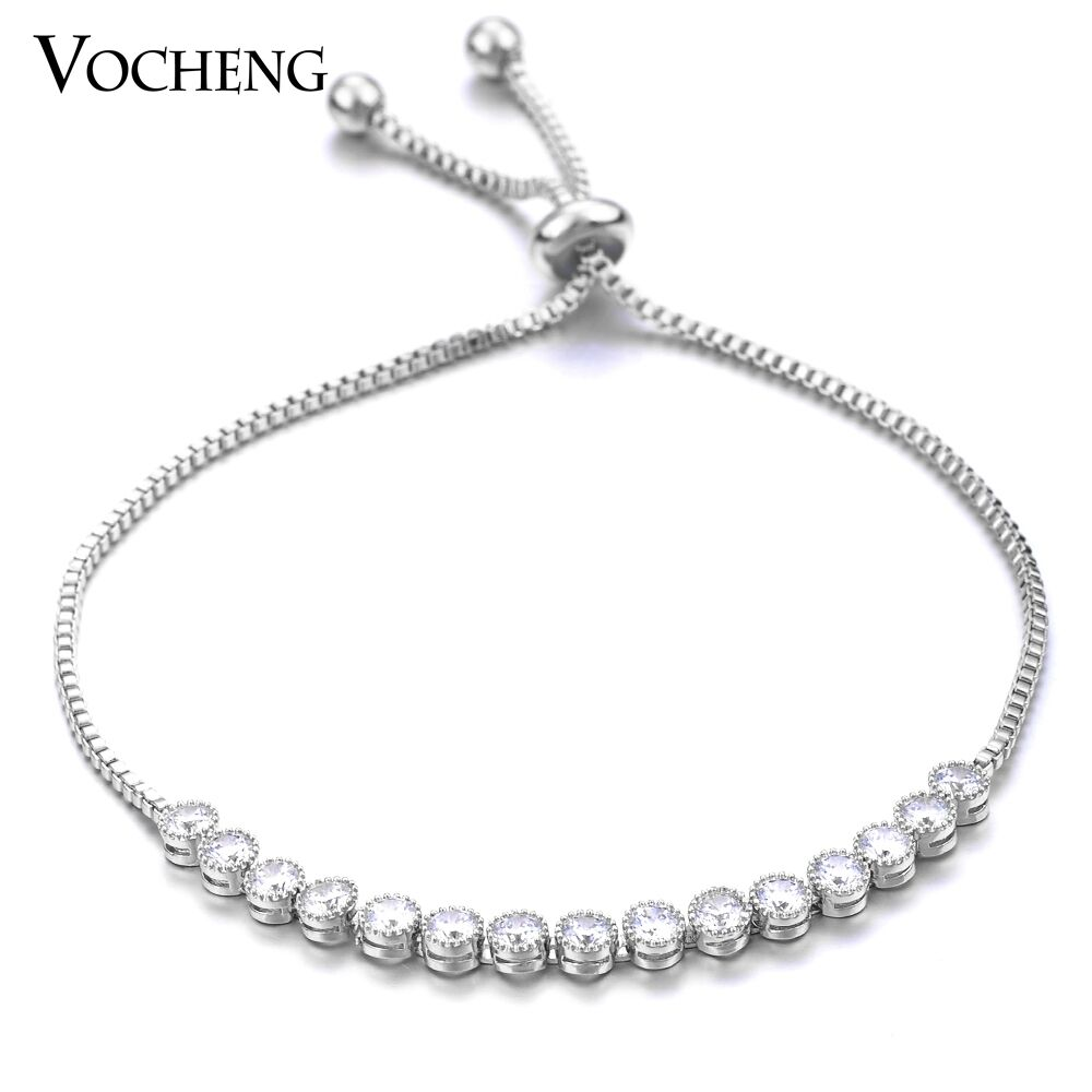 10pcs lot Vocheng 2 colors European Cubic Zirconia Bracelet for Women VG-08410