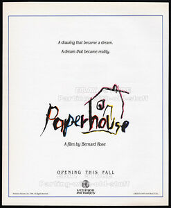 PAPERHOUSE-Original-1988-print-AD-movie-promo-poster-GLENNE-HEADLY-BEN-CROSS