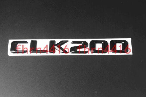 Gloss Black CLK200 Letters Trunk Emblem Badge Sticker for Mercedes Benz CLK200