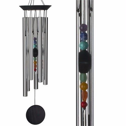Extra Large Chakra Windchime Woodstock Healing Carillon semi pierres précieuses 60 cm