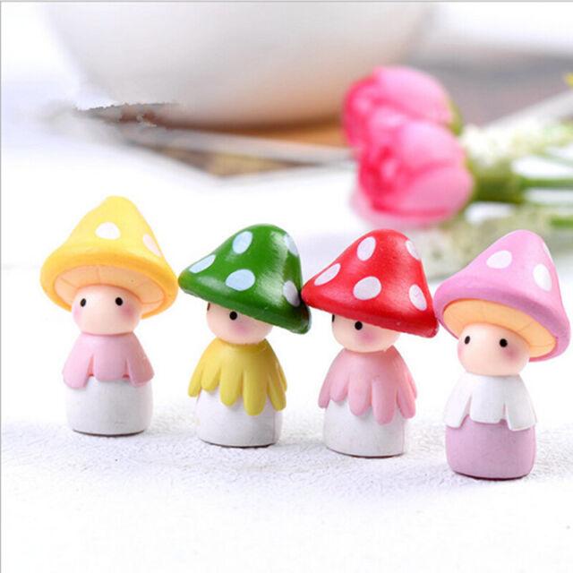 Garden Miniature Mushroom Doll Figurine Plant Pot Fairy Decor Dollhouse Cra S4I0