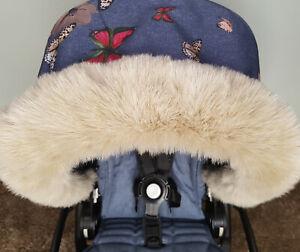 Pram Fur Winter Kit Fur Hood Trim Furs New Baby Dark Silver Brown From PramFurs