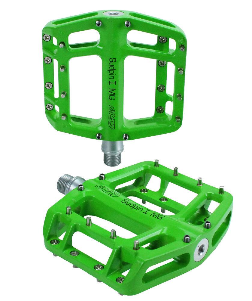 Nc-17 sudpin i mg S-pro Alu bicicleta plataforma pedal verde
