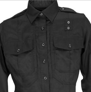 5.11  62065 Police Women s PDU Black Twill Long Sleeve Shirt size ... d73c60e26ebd