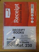 Silvine 230 Duplicate Receipt Book 105x148mm Gummed Pk12 230