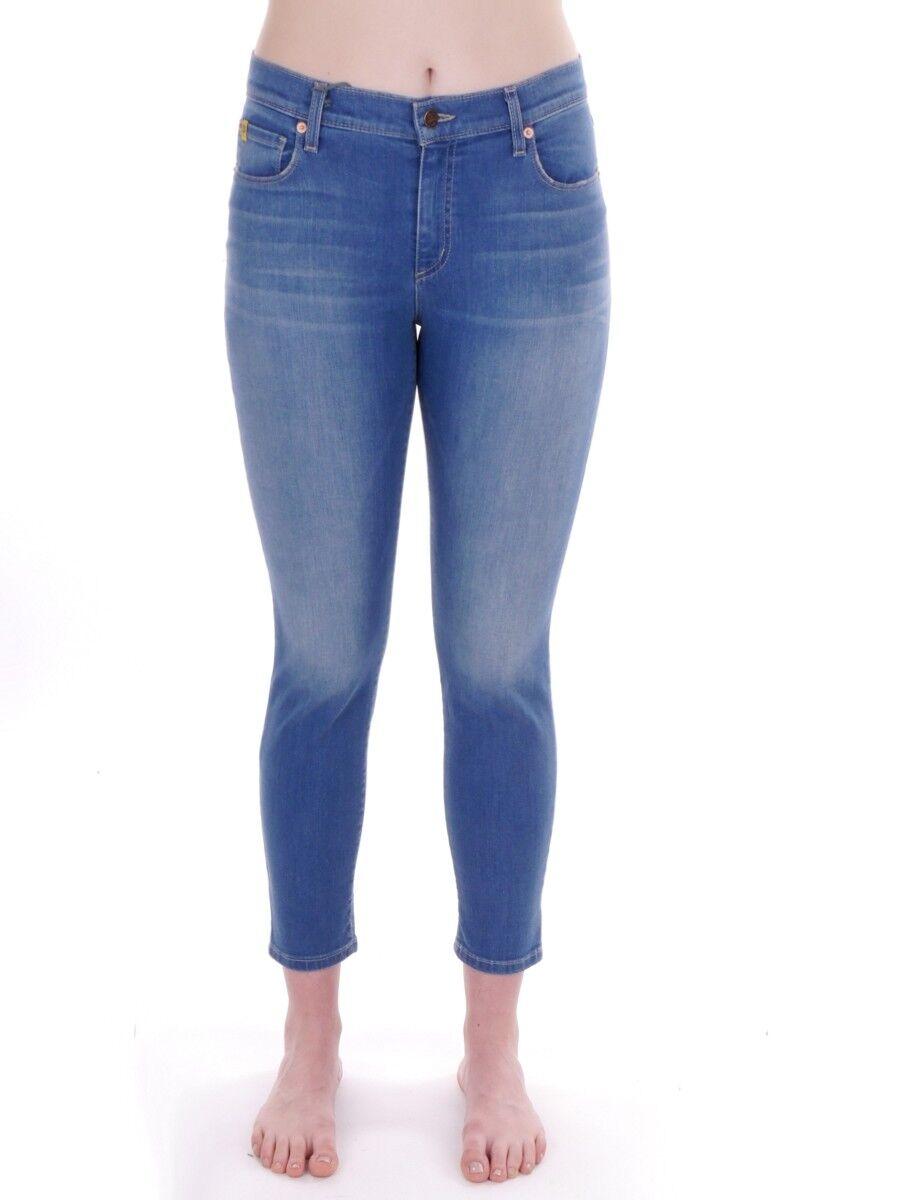 YOGAJeans Jeans Stoffhose Freizeithose blau High Rise 5-Pocket Zipper