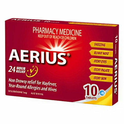 AERIUS 24 Hours Hayfever RELIEF 10 TABLETS 5MG