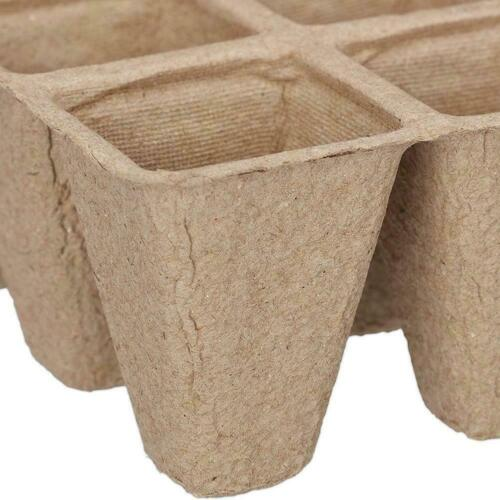 5 x Tray Biodegradable Peat Pots Seedling Germination each tray 12 pots