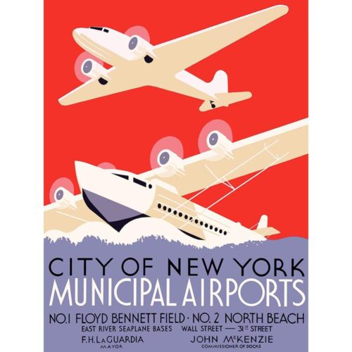 Vintage Advert Travel Transport New York City 12X16 Inch Framed Art Print