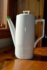 Tall-White-Ceramic-Porcelain-Coffee-Pot