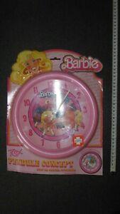 Responsable Barbie 1984 Pendule De Chambre Fabriquée En G B Sous Blister D'origine Moins Cher