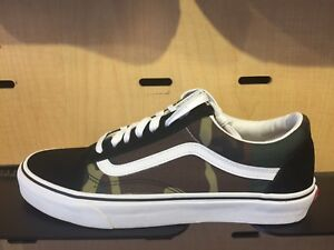 b6accb322aa Image is loading Vans-Old-Skool-Black-Green-Woodland-Camo-White-