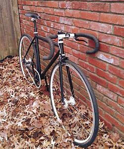 SEAMUS-MURPHY-50CM-MATTE-BLACK-AND-WHITE-FIXED-GEAR-TRACK-BIKE-SHIPS-FREE-USA