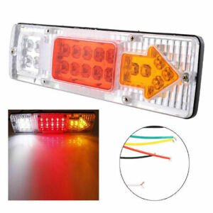 Paire-12-V-19-LED-Arriere-Feux-Arriere-Lampe-Remorque-Camion-Caravane-Camion