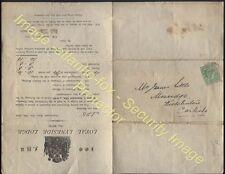 1908 LYNESIDE MASONIC LODGE Posted Circular from KIRKLINTON Cumberland