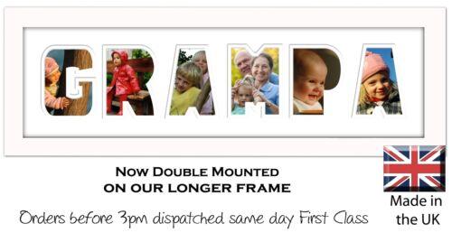 Grampa Photo Frame Word Photo Frame Photos in a Word Name Frame 1268-CC