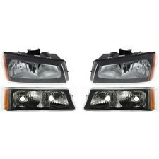 2003 2007 Chevy Silverado Black Headlightsbumper Parking Lights Lamps 4pc Fits More Than One Vehicle