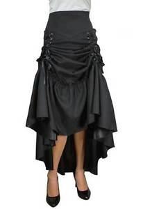 30 Ourlet à Jupe Noire Réglable 8 Victorien Gothique Tailles Entièrement Maxi Avec Doublée nX7wqSHS