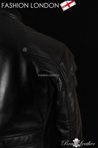 /'GAUNTLET/' Men/'s Black GOTHIC Style Real Soft Lambskin Leather Jacket 9280