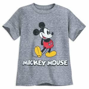 Disney-Store-Mickey-Mouse-Classic-T-Shirt-for-Boys-Gray-L-10-12-New-W-Tag