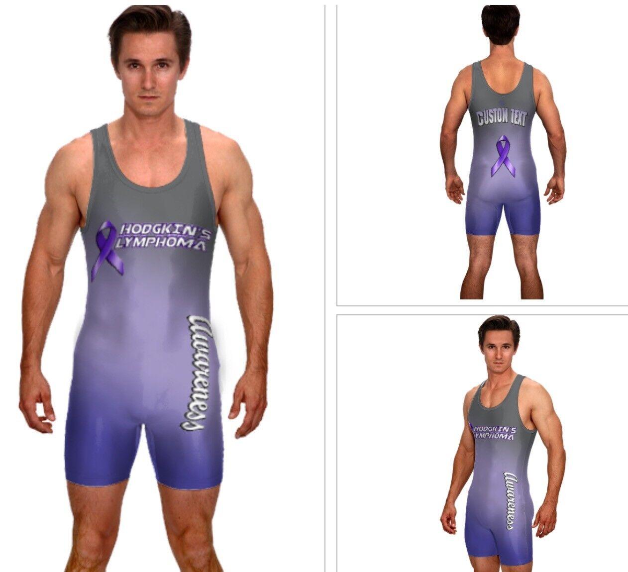 Hodgkin's Lymphoma wrestling singlet, powerlifitng singlet includes custom text