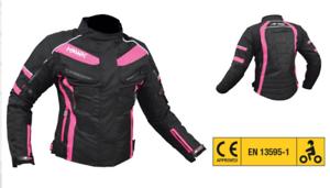 Giacca-da-Donna-X-Moto-3-strati-4-stagioni-con-protezioni-gomiti-spalle-schiena