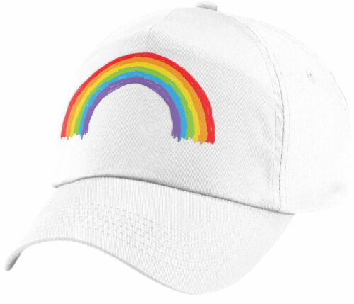Kids Crayon Rainbow Baseball Cap Girls Boys Summer and Smiles Rain Bow Hat