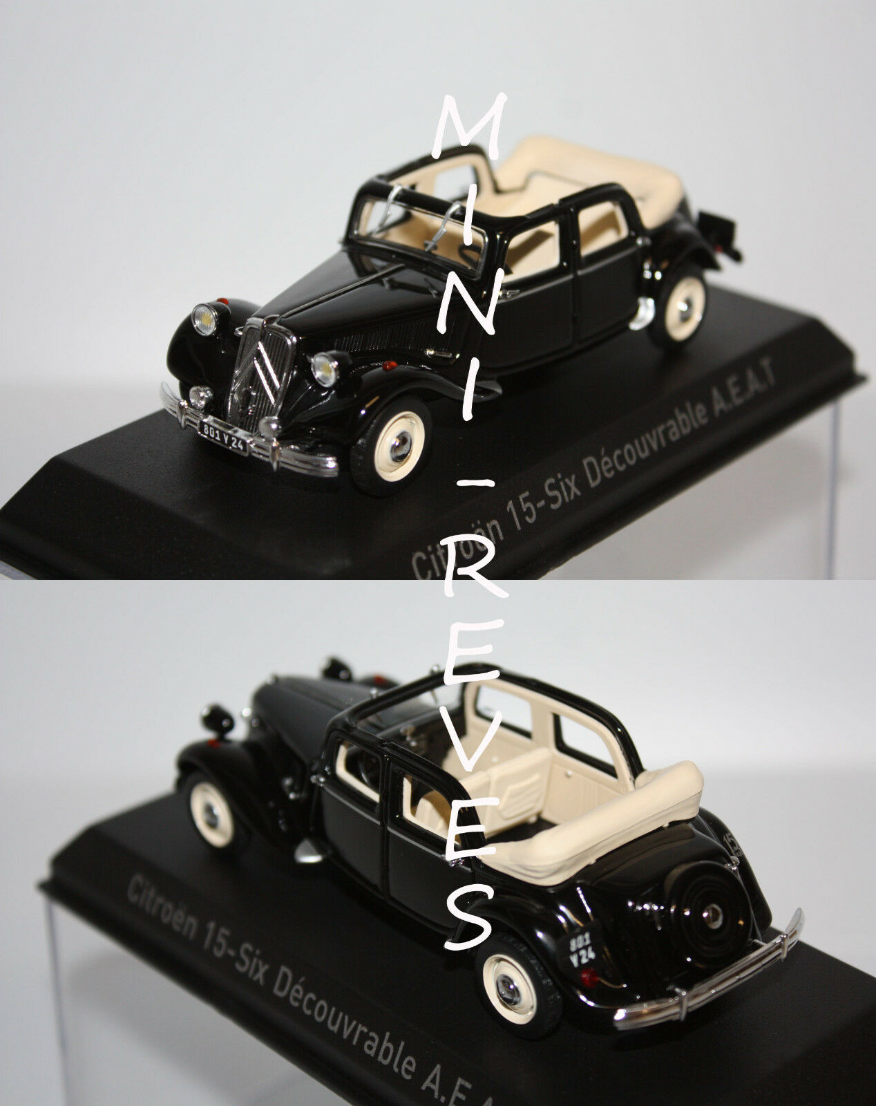 Norev Citroën 15-Six Découvrable 1951 1951 1951 blacke 1 43 153022 4fffa0