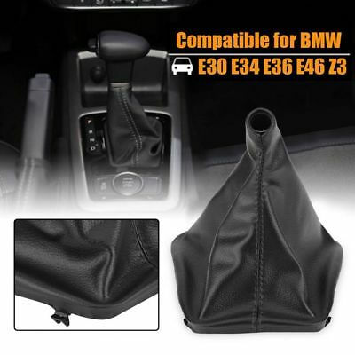 Universal Auto Car Suede Leather Manual Gear Stick Shift Knob Cover Boot Gaiter~