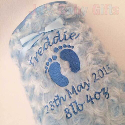 Boys /& Girls Fluffy /& Soft Embroidered Gift Personalised Luxury Baby Blanket