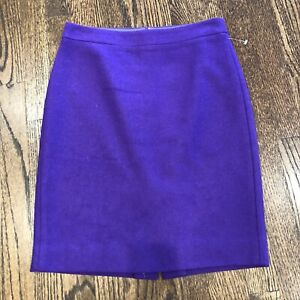 a72a92134c J. Crew Factory Purple The Pencil Skirt in Double-Serge Wool Sz 0 ...
