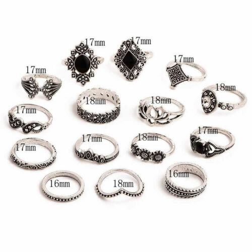 Fashion Jewelry Women Rings Stack Above Knuckle Ring Band Midi Finger Ring Set