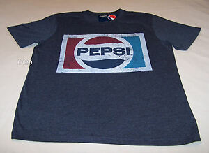 Pepsi-Cola-Retro-Logo-Mens-Indigo-Printed-Short-Sleeve-T-Shirt-Size-XXL-New