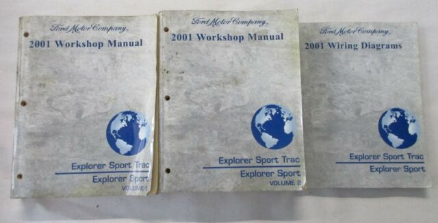 2001 Ford Explorer Sport Trac Service Shop Repair Manual  U0026 Wiring Diagrams Set