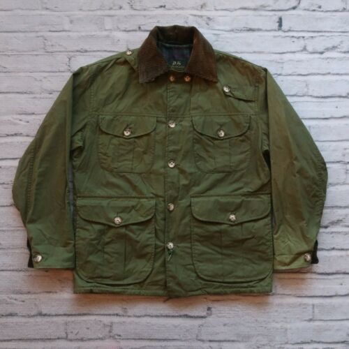 Vintage Willis & Geiger Wax Field Jacket Green Saf