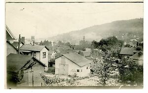 Bradford PA - BIRDSEYE VIEW OF VILLAGE - RPPC Postcard