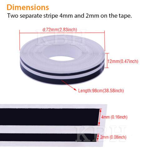 "1//2/"" Vinyl Double Line Pinstriping Pin Stripe Tape Sticker Car 12mm BLUE CHROME"