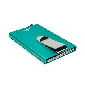 GREEN STEALTH WalletRFID Blocking Credit Card Holder Ejector Wallet